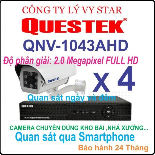 Hệ Thống 4 Camera QUESTEK QNV 1043AHD