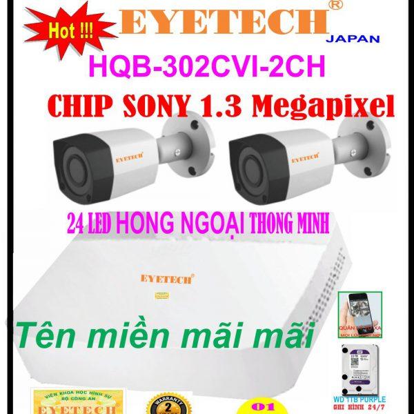 Hệ Thống 2 Camera Khuyến Mãi EYETECH-302CVI-2CH 1.3 Megapixel