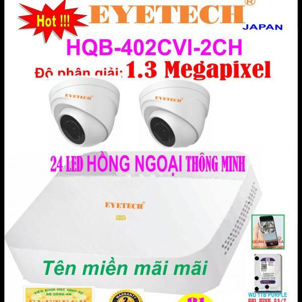 Hệ Thống 2 Camera Khuyến Mãi EYETECH HQB - 402CVI - 2CH