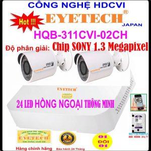 Hệ Thống 2 Camera Khuyến Mãi EYETECH HQB ET-311CVI-2CH