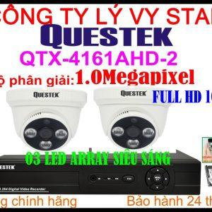 Hệ Thống 2 Camera Khuyến Mãi QUESTEK ECO - 4161AHD - 2CH