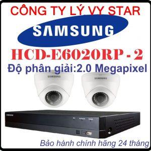 Hệ Thống 2 Camera Khuyến Mãi SAMSUNG HCD-E6020RP - 2CH