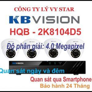 Hệ thống 4 Camera KBVISION KX-2K8104D5B