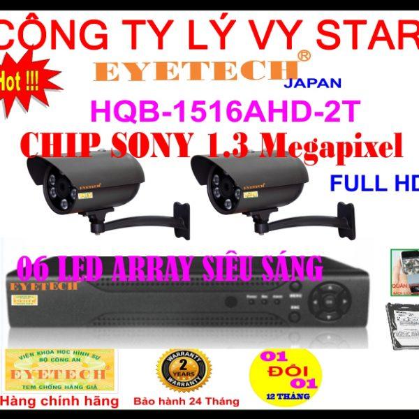 Hệ Thống 2 Camera Khuyến Mãi EYETECH-HQB-1516AHD