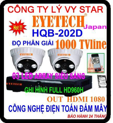 Hệ Thống 2 Camera Khuyến Mãi EYETECH HQB-202D