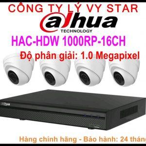 Hệ Thống 4 Camera Khuyến Mãi DAHUA HAC HDW- 1000RP