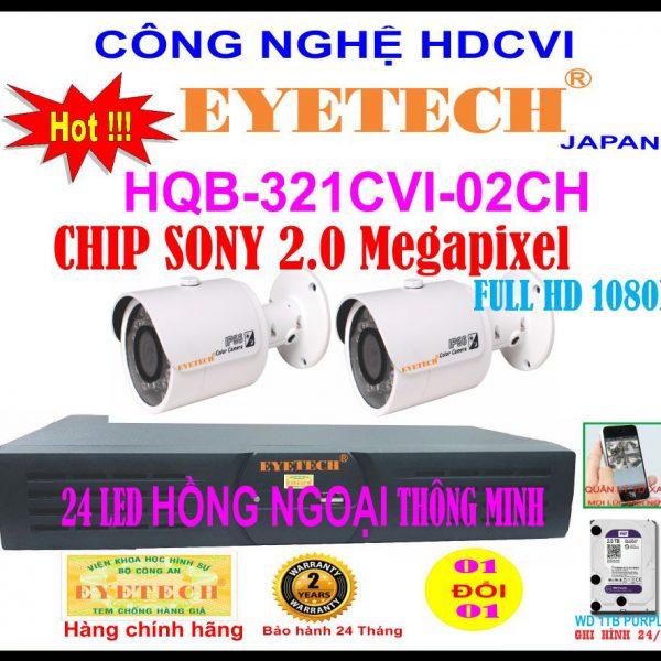 Hệ Thống 2 Camera Khuyến Mãi EYETECH 2.0 Megapixel