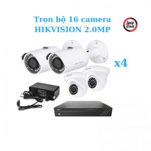 Trọn bộ 16 camera HIKVISION 2.0MP